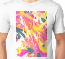 Phux and yellow psychedelic marble ink Unisex T-Shirt