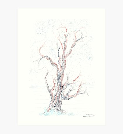 Genetic branches (hand drawn ink on paper) Art Print