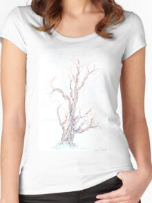Genetic branches (hand drawn ink on paper) Women's Fitted Scoop T-Shirt