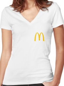 McDonald's Logo Women's Fitted V-Neck T-Shirt