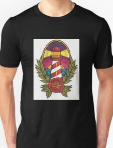 Traditional Tattoo Lighthouse Design.  Unisex T-Shirt
