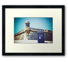 The Tardis Just Landed in Puerto Rico Framed Print