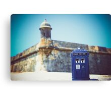The Tardis Just Landed in Puerto Rico Canvas Print