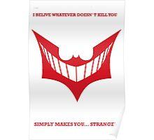 Joker behind Batman Poster