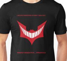 Joker behind Batman Unisex T-Shirt
