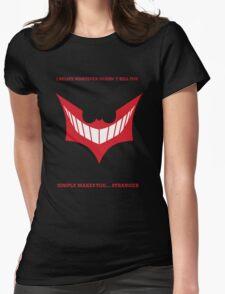 Joker behind Batman Womens Fitted T-Shirt
