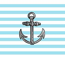 Sailor's Anchor Photographic Print