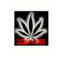 Mary Jane Lane - Black Leaf Art Print