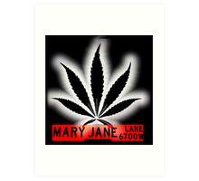Mary Jane Lane - Black Leaf Art Print