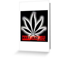 Mary Jane Lane - Black Leaf Greeting Card