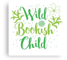 Wild bookish child Canvas Print