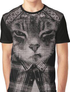 Gangster Cat (Platinum) Graphic T-Shirt