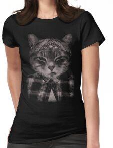 Gangster Cat (Platinum) Womens Fitted T-Shirt
