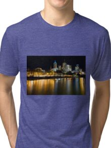 Evenings on the Yarra - Melbourne Australia Tri-blend T-Shirt