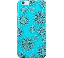 Abstract Spinning Stars Azure Pattern iPhone Case/Skin