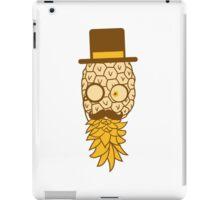 pineapple delicious food mr sir hat gentleman monokel cylindrical mustache mustache man funny face glasses iPad Case/Skin