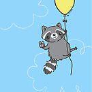 Birthday Raccoon by Zoe Lathey