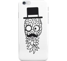pineapple delicious food mr sir hat gentleman monokel cylindrical mustache mustache man funny face glasses iPhone Case/Skin
