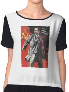 Soviet Poster: Lenin  Chiffon Top
