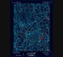 USGS TOPO Map Connecticut CT Woodbury 461087 1950 31680 Inverted Unisex T-Shirt