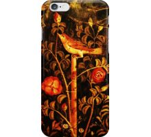 POMPEII COLLECTION NIGHTINGALE WITH RED ROSES iPhone Case/Skin