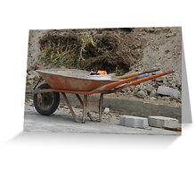 Orange Wheelbarrow Greeting Card