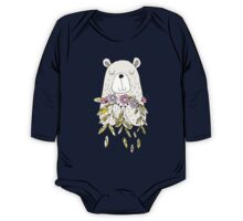 Cartoon Animals Cute Bear With Flowers One Piece - Long Sleeve