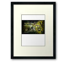 Pierre Emerick Aubameyang Borussia Dortmund 17 Framed Print