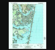 USGS TOPO Map New Jersey NJ Point Pleasant 254768 1989 24000 Unisex T-Shirt