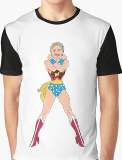 Hillary Clinton Wonder Woman Graphic T-Shirt