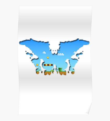 Mario Rorschach 8-bit Poster