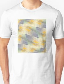 Chic fresh summer colors design hand made with golden pigment and ink Unisex T-Shirt