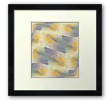 Chic fresh summer colors design hand made with golden pigment and ink Framed Print