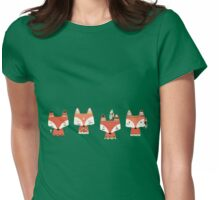 Four Tribal Foxes  Womens Fitted T-Shirt