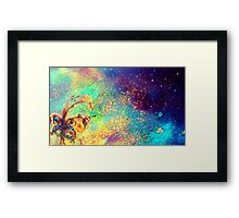GARDEN OF THE LOST SHADOWS MAGIC BUTTERFLY PLANT Framed Print