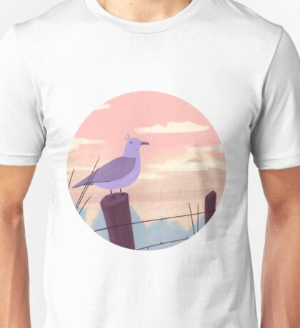 Bird on fence post Unisex T-Shirt