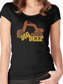 Dig Deep Gold Rush Women's Fitted Scoop T-Shirt