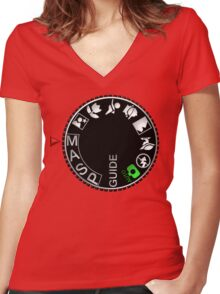 Manual Mode Women's Fitted V-Neck T-Shirt