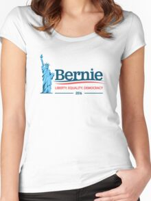 Bernie Sanders - Liberty. Equality. Democracy. Women's Fitted Scoop T-Shirt