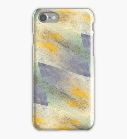 Chic fresh summer colors design hand made with golden pigment and ink iPhone Case/Skin