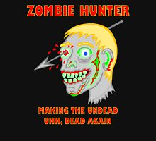 Zombie Hunter Funny Cartoon Walker Zombie Head Unisex T-Shirt