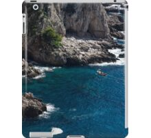 The Little Boat and the Cliff - Azure Waters Magic of Capri iPad Case/Skin