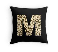 Leopard M Throw Pillow