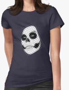 Emerald Skull Squares Womens Fitted T-Shirt