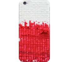 Red on Canvas iPhone Case/Skin