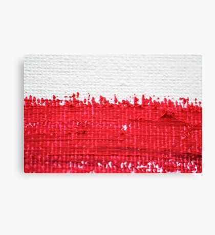 Red on Canvas Canvas Print