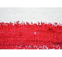 Red on Canvas Photographic Print