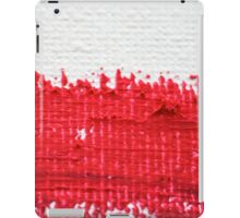 Red on Canvas iPad Case/Skin