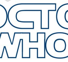 Doctor Who in Star Wars Font Sticker