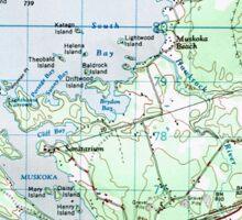 Muskoka Map Sticker